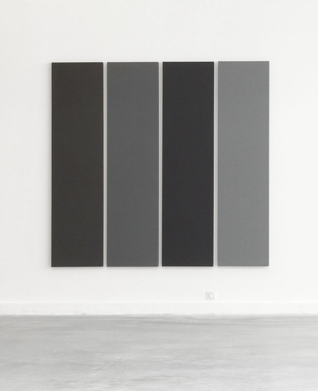 <p>Alan Charlton, <i>4 Different Greys</i>, 1990</p>